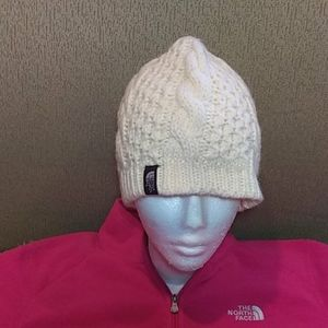 The North Face cable beanie